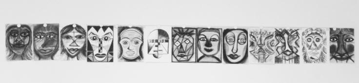 MeineMasken_Zeichenseminar_Isabella S. Minichmair