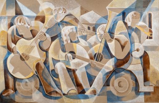 Die Musiker_Öl auf Leinwand_ 2019_185 x 285 cm